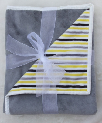 Example image of Baby Stripes Yellow/Charcoal
